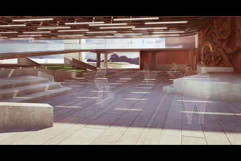 Southbank Centre - skateboard area